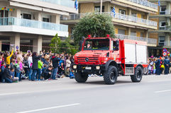 Ohi Day parade in Thessaloniki Royalty Free Stock Photos