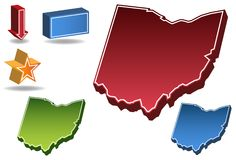 Ohio 3D Royalty Free Stock Photos