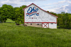 Ohio Bicentennial Barn in Vinton County, Ohio Stock Images