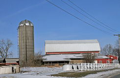 Ohio dairy farm Stock Photo
