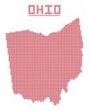Ohio Dot Map ilustración del vector