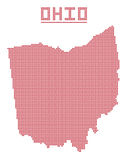 Ohio Dot Map Stock Images