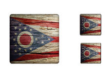 Ohio Flag Buttons Stock Photography