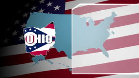 Ohio Flag and Information Panel stock video footage
