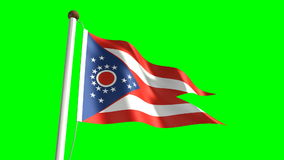 Ohio flag stock footage
