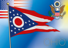 Ohio flag, us state Stock Images