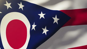 Ohio flag waving in the wind. Looping sun rises. Ohio flag waving in the wind. Loops sun rises style stock video footage
