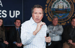 Ohio Governor John Kasich speaks in Newmarket, NH, January 25, 2016. Royalty Free Stock Photo