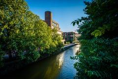 Ohio kanał w Georgetown & Chesapeake, Waszyngton, DC obraz stock
