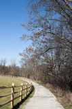 Ohio Landscape with Trail. With Green Grass and Trees stock image