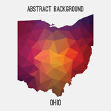 Ohio map in geometric polygonal,mosaic style. Royalty Free Stock Photos