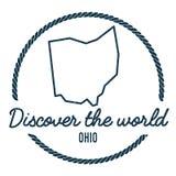 Ohio mapy kontur Rocznik Odkrywa świat royalty ilustracja