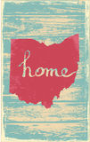 Ohio nostalgic rustic vintage state vector sign. Rustic vintage style U.S. state poster in layered easy-editable vector format Stock Photography
