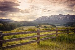 Ohio Pass Sunset near Crested Butte stock images