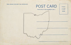 Ohio Postcard. A postcard with an Ohio map outlilne. Dirt and scratches at 100 royalty free stock photos