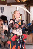 Ohio Renaissance Festival Belly Dancer Stock Photo