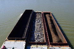 Ohio River Barge Stock Photo