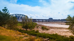 Ohio River Bridge Indiana Kentucky. Bridge over Ohio River that separates Louisville Kentucky and Clarksville Indiana stock photography