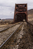 Ohio River Bridge - Weirton, West Virginia and Steubenville, Ohio. The massive Baltimore through truss bridge carries the Norfolk Southern Railway and formerly stock images