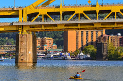 Ohio River Kayak Royalty Free Stock Photography