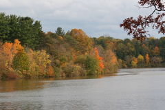 The Ohio River. A landscape photograph of the river flowing through Ohio royalty free stock photo
