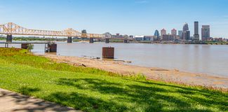 Ohio River at Louisville on a sunny day - LOUISVILLE. USA - JUNE 14, 2019