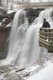 Ohio siklawa w zimie zdjęcie stock