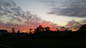 Ohio solnedgång Royaltyfria Foton