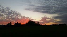 Ohio solnedgång Royaltyfri Foto