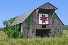 Ohio Star Quilt Block stock photo