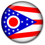 Ohio State Flag Button. Glassy Web Button with the flag of the state of Ohio, USA