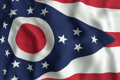 Ohio State flag royalty free stock images