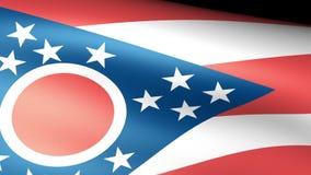 Ohio State Flag Waving. Video footage stock video footage