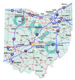 Ohio State Interstate Map Stock Photography