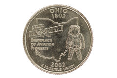 Ohio State Quarter Coin Stock Photo