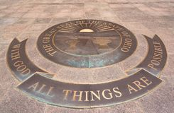 Ohio State Seal. On the grounds of the Ohio State Capital in Columbus royalty free stock photography