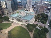 Ohio statehouse. Aerial photo of Ohio's statehouse Stock Photos
