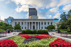 The Ohio Statehouse in Columbus, Ohio.  stock photography