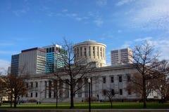 Ohio Statehouse stanu Capitol budynek i Kolumb linia horyzontu zdjęcie royalty free