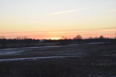 Ohio sunset. Sunset at Grove City, Ohio, USA royalty free stock photography