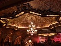 Ohio Theatre ceiling. Architecture, amazing stock image