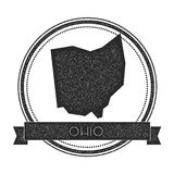 Ohio vector map stamp. Stock Photo