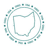 Ohio-Vektorkarte Stockbild