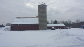 Ohio Winter Barn Scene Royalty Free Stock Images