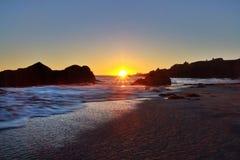 Ohlson plaży zmierzch Obraz Stock