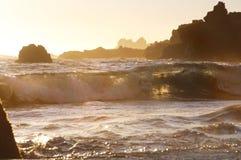Ohlson plaży zmierzch Zdjęcia Stock