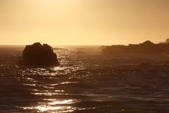 Ohlson plaży zmierzch Zdjęcia Royalty Free
