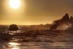 Ohlson plaży zmierzch Fotografia Royalty Free