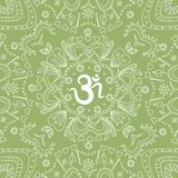 Ohm hand drawn pattern Royalty Free Stock Photography