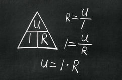 Ohm's Law triangle Royalty Free Stock Photos